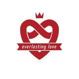 Everlasting Love concept, vector symbol created with infinity lo Royalty Free Stock Photography