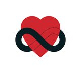 Everlasting Love concept, vector symbol created with infinity lo Stock Photo