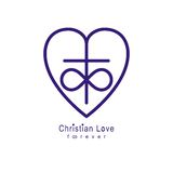 Everlasting Love of God vector creative symbol design combined w Stock Photos