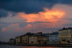 Everning sky over Saint-Petersburg
