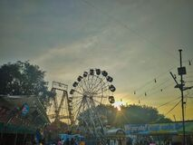 Everning time photo of a fair