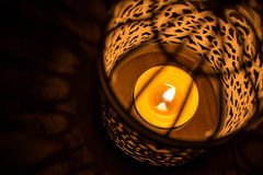 Everning świeczka Obrazy Royalty Free