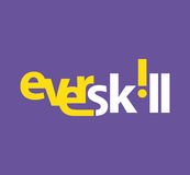 EverSkill Logo Concept Design Royalty Free Stock Photo