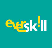 EverSkill Logo Concept Design Stock Photo