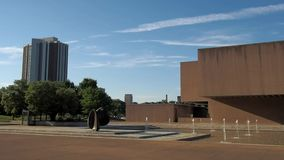 The Everson and Presidential Plaza. Syracuse, New York, USA. July 4, 2018. View of downtown Syracuse with The Presidential Plaza and Everson Museum of Art stock video