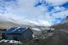 Everst Base Camp in Tibet Royalty Free Stock Photos