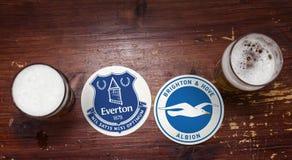 Everton εναντίον brillo στοκ εικόνες