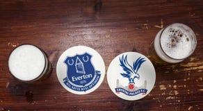 Everton contra Crystal Palace F C imagem de stock