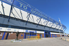 Everton Football Club in Liverpool, England. royalty free stock photography