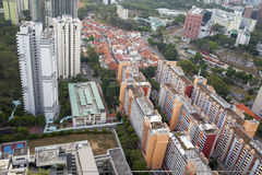 Everton Park Housing Estate Aerial View. Everton Park Housing Estate in Singapore Aerial View Stock Photography