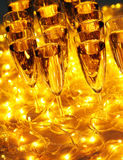 Every celebration party drinks always include champagne Royalty Free Stock Photography