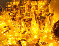 Every celebration party drinks always include champagne Royalty Free Stock Image