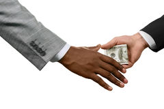 Every chain has a weakness. Executive handing money. International corruption. Every chain has a weakness. Corruption at its best Royalty Free Stock Images