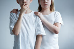 Every child deserves love. And respect - conceptual photo Stock Photography