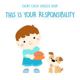 Every child should hear this is your responsibility  Stock Photos