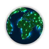 Every Corner of Our Planet Under Artificial intelligence Net stock illustration