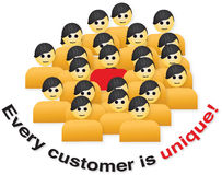 Every customer is unique. Sign Royalty Free Stock Photography