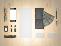 Every day carry. Mockup business template. Royalty Free Stock Photo