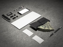Every day carry. Mockup business template. Stock Photos