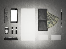 Every day carry. Mockup business template. Stock Images