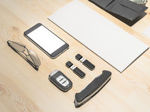 Every day carry. Mockup business template. Royalty Free Stock Photos