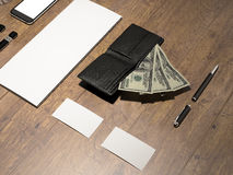 Every day carry. Mockup business template. Stock Image