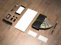 Every day carry. Mockup business template. Royalty Free Stock Photography