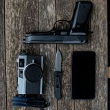 Every Day Carry Pocket Dump Royalty Free Stock Photography