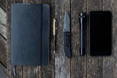 Every Day Carry Pocket Dump royalty free stock photo