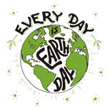 Every day is Earth day holiday card Stock Photo