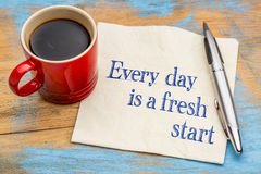 Every day is a fresh start Stock Photo