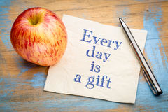 Every day is a gift inspiraitonal reminder Royalty Free Stock Photography