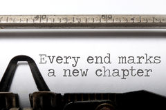 Every end is a new chapter Stock Image