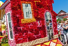On every even-numbered year, the Bad Nauheim suburb Steinfurth, the oldest rose village in Germany, honours the rose by celebratin. STEINFURTH, GERMANY-JULY 15 royalty free stock image
