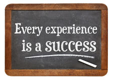Every experience is a success Stock Image