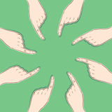 Every finger pointed same things concept Royalty Free Stock Image