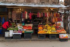 The fruit store in Tbilisi, Georgia royalty free stock images
