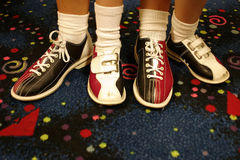 Every Other. Two pair of bowling shoes..adult and child Stock Photo