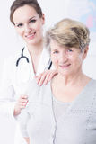 Every patient feels safe in her hands Stock Photography