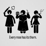 Every Rose Has Its Thorn royalty free illustration