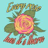 Every rose has it's thorn Royalty Free Stock Images