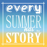 Every Summer has its Story Royalty Free Stock Images