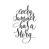 Every summer has a story inspirational quote about summer travel Royalty Free Stock Photography