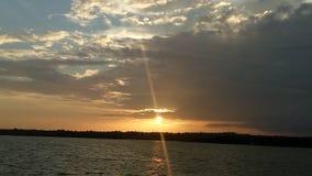 Every sunset marks a new reset!!. Unkal lake, Hubli Royalty Free Stock Photo
