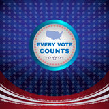 Every Vote Counts Banner Royalty Free Stock Photos