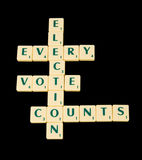 Every vote counts: election. royalty free stock images