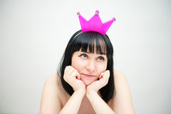 Every woman in the shower - the Queen! Stock Images