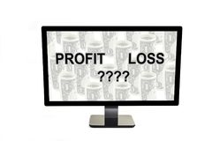 Every year we have a profit or loss. Royalty Free Stock Images