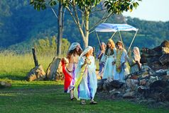 Traditional Jewish Christian holy wedding play Passion of the Christ