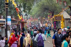 Sunday Rush at Surajkund Handicraft fest. Every year in the month of February Government of Haryana organizes a grand handicraft festival at Surajkund in royalty free stock image